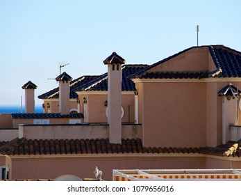 Traditional classical local Spanish style house private home real estate Spain