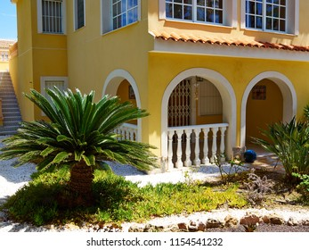 Traditional classical local Spanish style house private villa home real estate Spain