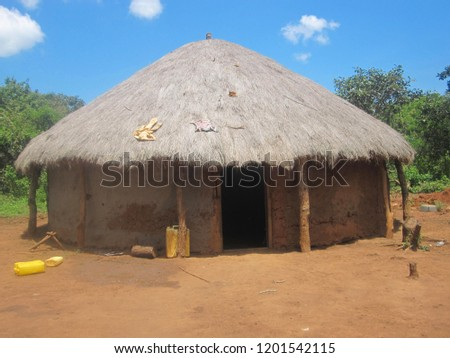 Traditional Clay House Straw Roof Straw Stock Photo Edit Now