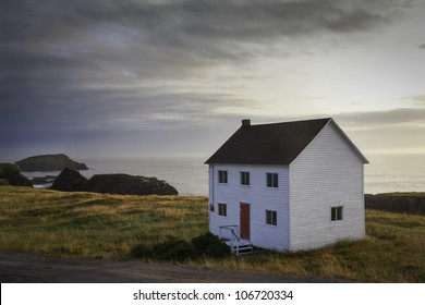 A traditional coastal house, in Elliston, Newfoundland.