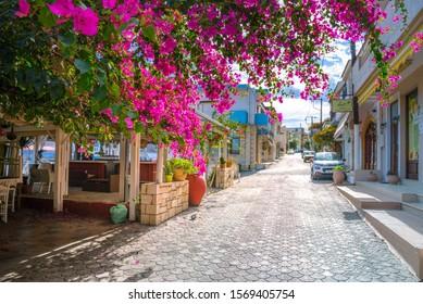 Traditional coastal village of Panormo, Rethimno, Crete, Greece  on November 12, 2019.