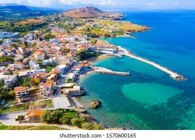 Traditional coastal village of Panormo, Rethimno, Crete, Greece.