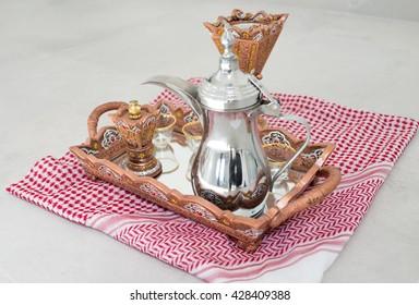 Traditional coffee in Dallah