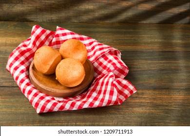 Traditional Colombian buñuelo - Deep Fried Cheese Bread