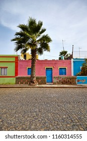 traditional and color fuld old house Barlavento archipelago in Cape Verde
