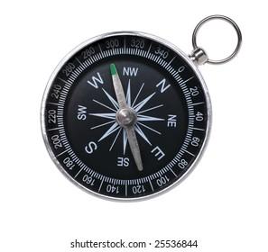 Traditioneller Kompass einzeln auf weißem Hintergrund