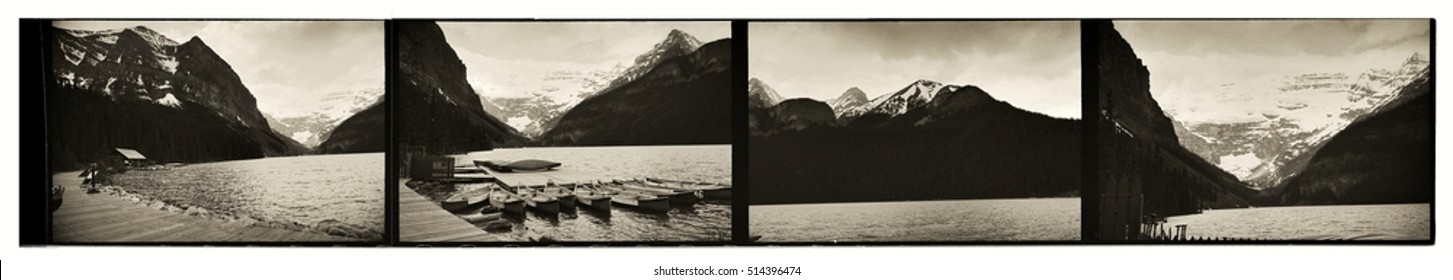 Traditional contact print of the landscapes