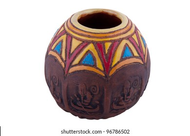Traditional container for yerba mate drink