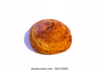Traditional cookie which cook in Newroz holiday on white isolated background