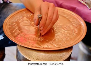 traditional copper handicraft