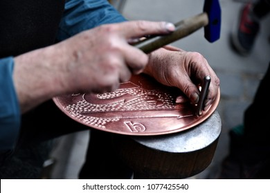 traditional copper handicraft in Gaziantep