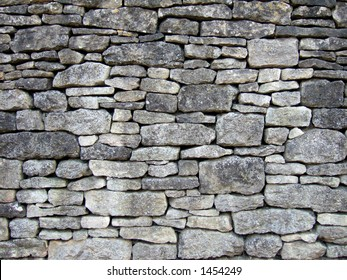 Traditional Cotswold dry stone wall, great background II