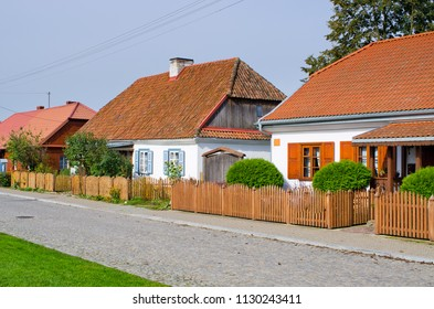 Traditional cottages in Tykocin, Poland