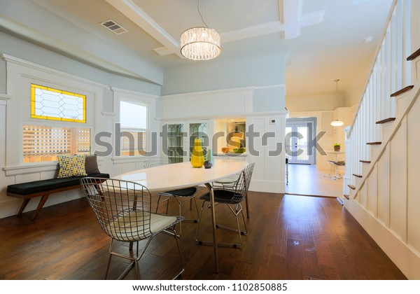Traditional Craftsman Home Interior Stock Photo Edit Now 1102850885