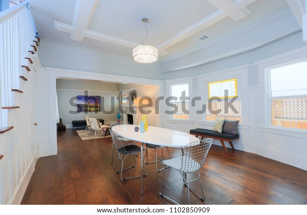 Traditional Craftsman Home Interior Stock Photo Edit Now 1102850909