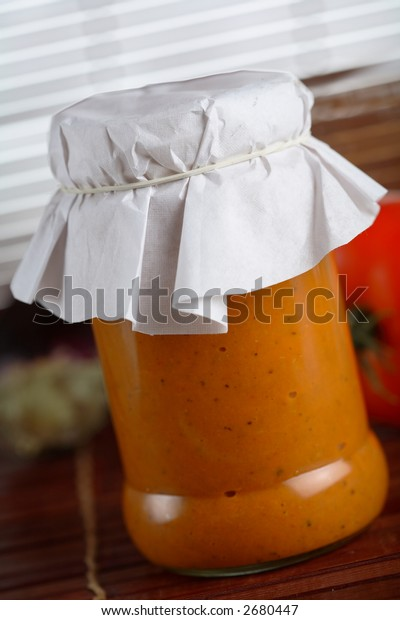 Traditional Croatian dressing made from red pepper and tomatoes