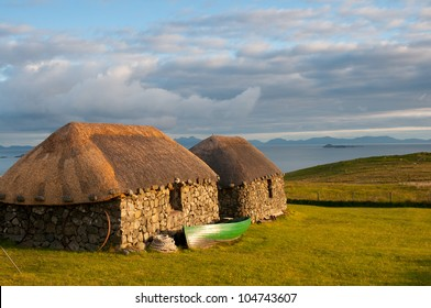 Traditional crofters cottages on the Isle of Skye, Scotland
