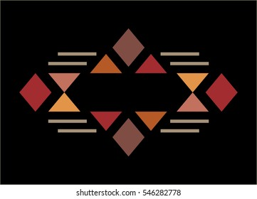 Traditional culture inspired simple geometric symbol. Abstract tribal elements. Raster version.