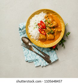 Traditional curry with rice