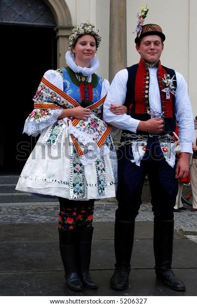 Traditional czech folk costume