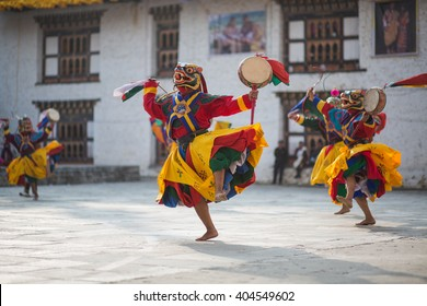 Traditional dance and colors in Mongar, Bhutan
