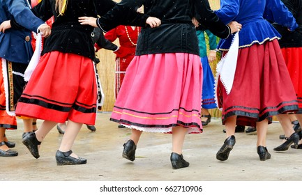 Traditional dance costumes in Dobrogea region, Romania