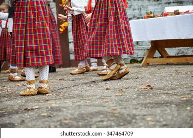 Traditional dance shoes. Save traditions. Latvian traditional dance.