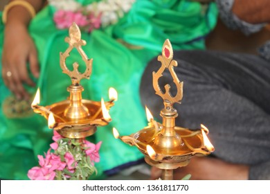 traditional deepam which is called holy fire. it delete our all our bad thoughts in our heart during pooja