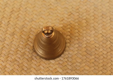 Traditional design Bell, brass Well worn!