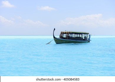 Traditional Dhoni boat in Maldives