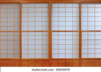 Traditional door of paper japan style