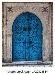 Traditional doors in the old city of Tunis capital of Tunisia.