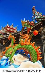 Traditional Dragon Decoration in Temple