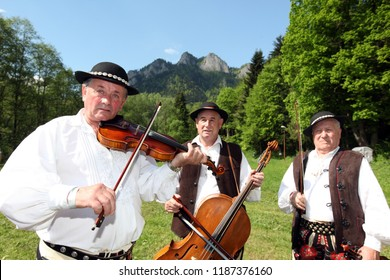Traditional Dresst People at a traditional Folk Music and Dance Festival in the town of Cerveny Klastor in Slovakia in east Europe.    Slovakia, Cerveny Klastor, May, 2009