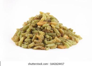 Traditional dried fruit: green raisins