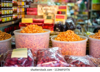 Traditional Dried Shrimp For Sale At Store