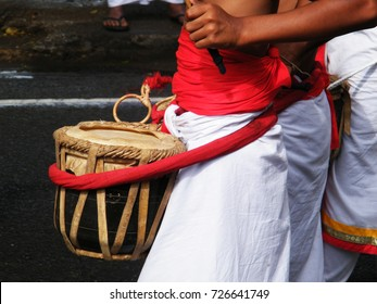 Traditional drummers in Kandy procession Sri Lanka