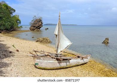 Traditional Dugout Canoe, Lamen Bay, Epi Island, Vanuatu