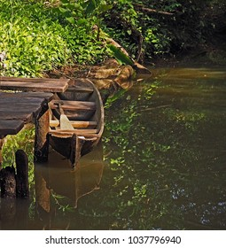 Traditional dugout canoe used by the  indigenous peoples of many communities on the Caribbean coast of Panama