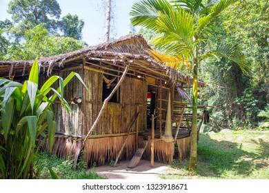 Traditional Dusun house in Mari Mari Cultural Village, Sabah, Malaysia.