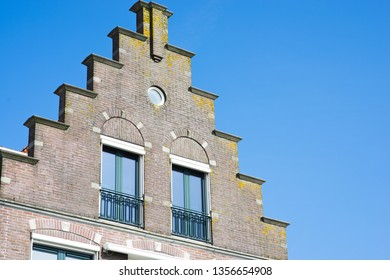 Traditional Dutch house façade or front