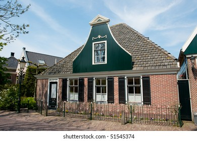 Traditional Dutch house in a small village called Driehuizen