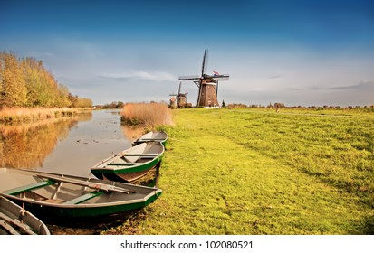 traditional  dutch landscape