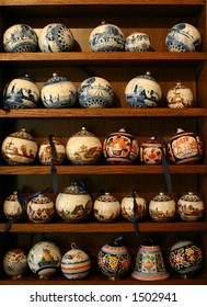 Traditional Dutch porcelain in Delft