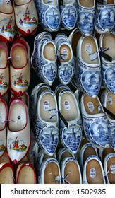 Traditional Dutch shoes in Delft