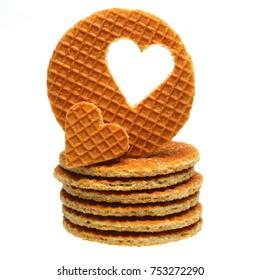 Traditional Dutch waffle