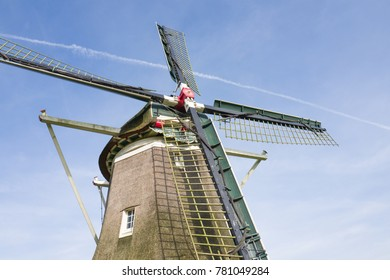 Traditional Dutch windmill De Hoop in Elspeet in Holland.
