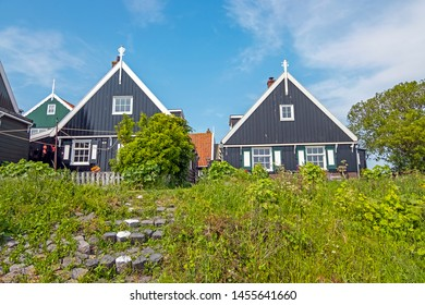 Traditional dutch wooden houses in Marken the Netherlands