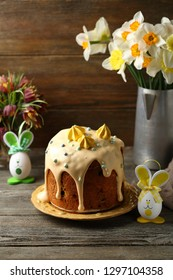 Traditional easter cake and bunny