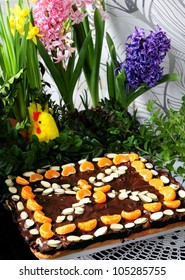 traditional easter cake called Mazurek